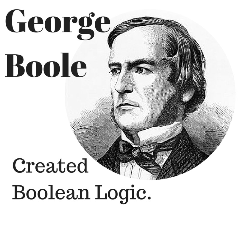 Picture shows image of George Boole, the creator of Boolean Operators.