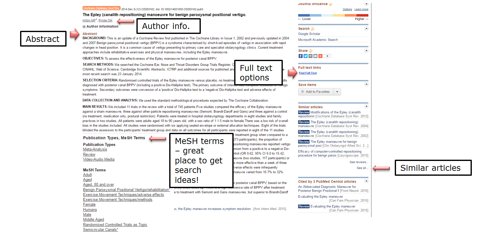 Abstract. Author info. Full text options. MeSH terms - great place to get search ideas! Similar articles.