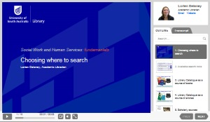 Choosing where to search [Image source: UniSA Library]