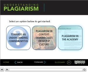 'Understanding Plagiarism' [Eastern Michigan University Library interactive tutorial, CC BY-NC-SA 3.0 http://creativecommons.org/licenses/by-nc-sa/3.0/deed.en_US]