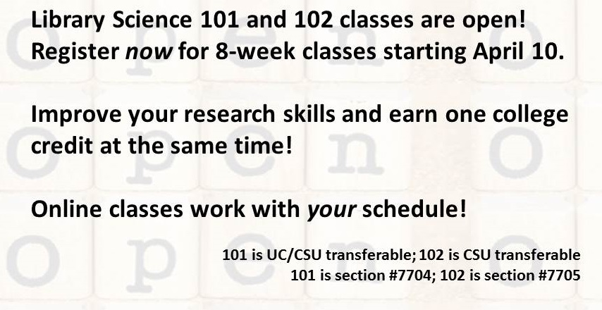 Library Science 101 and 102