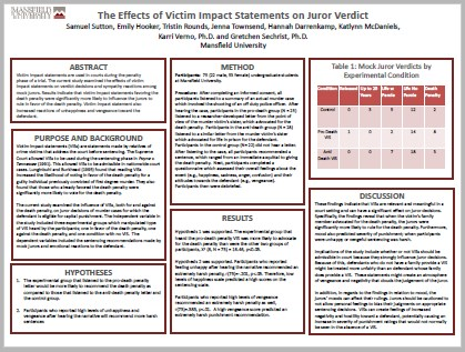 The Effects of Victim Impact Statements on Juror Verdict