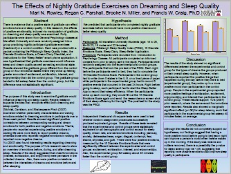 The Effects of Nightly Gratitude Exercises on Dreaming and Sleep Quality