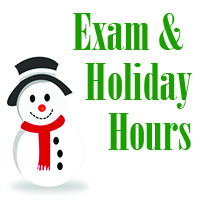 Exam & Holiday Hours