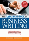 book cover for The AMA Handbook of Business Writing