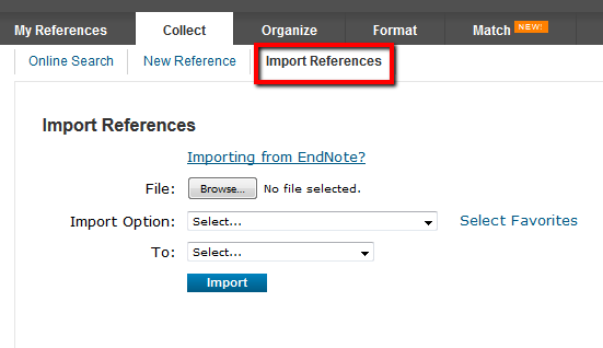 Import References