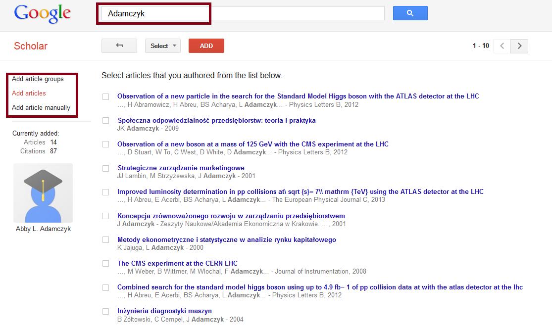 Google scholar citations google scholar my citations adding articles manually stopboris Choice Image