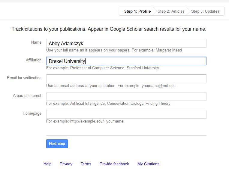 Google Scholar Citations - Google Scholar - My Citations ...