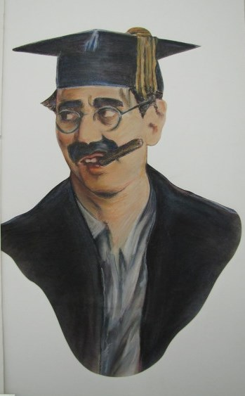 Painting of Groucho Marx