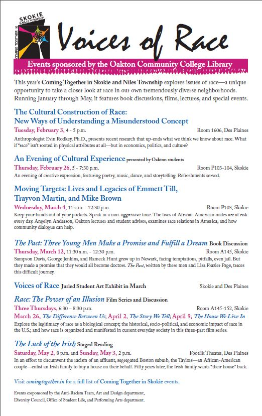 Voices of Race -- Events sponsored by the OCC Library