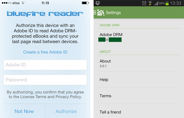 Screen shot of app' authorize screen