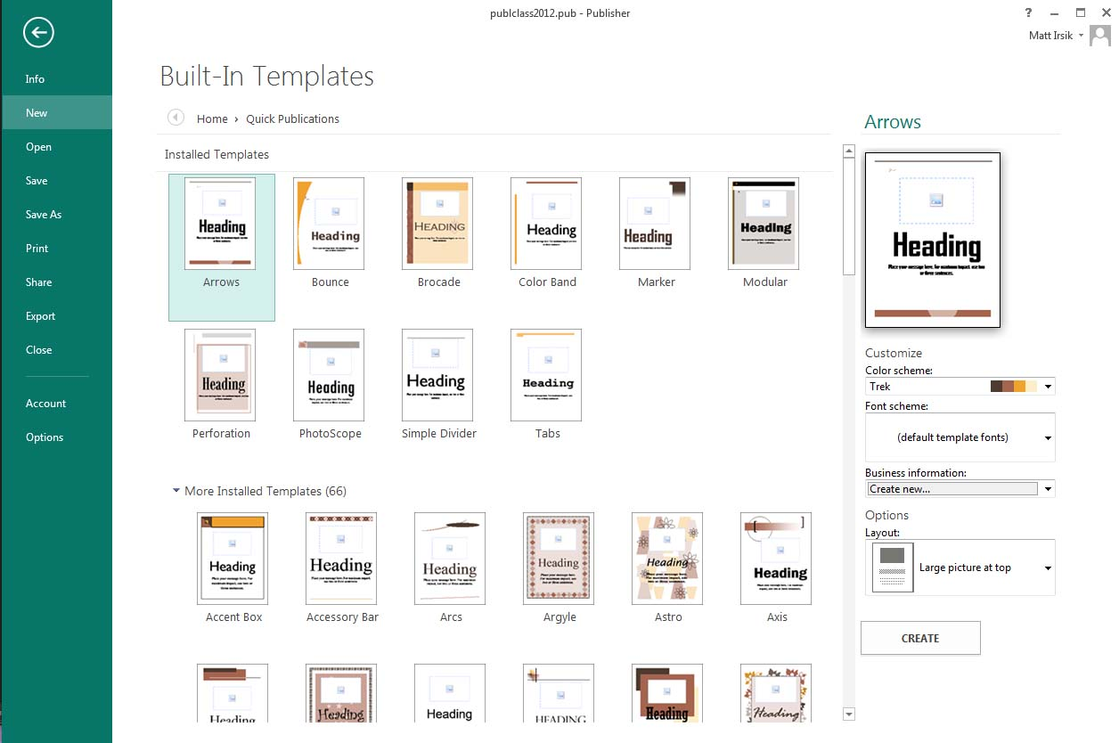 tips tricks microsoft publisher basics ulibraries subject in a short amount of time don t forget about the quick publications that are available as part of the built in templates that come publisher