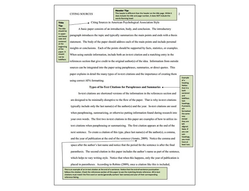 apa sample paper format