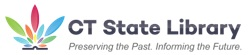 "CT State Library ""Preserving the past. Informing the Future."" logo"