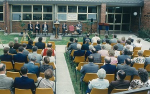 Official opening of V block, 1989, Goulburn Campus