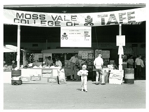 Moss Vale college display and information stand at Moss Vale Show 1986