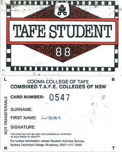 Old TAFEcard, 1988
