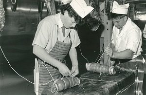 Wollongong West Campus butchery students in the 80's