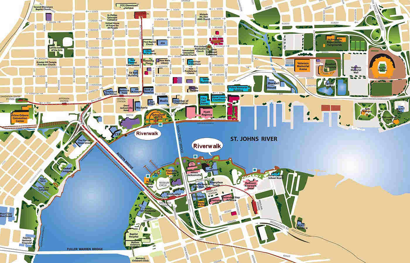Maps History Of Jacksonville FL LibGuides At Florida State - Jacksonville map