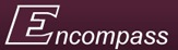 "Image is Encompass logo - the word ""Encompass"" on a maroon background"
