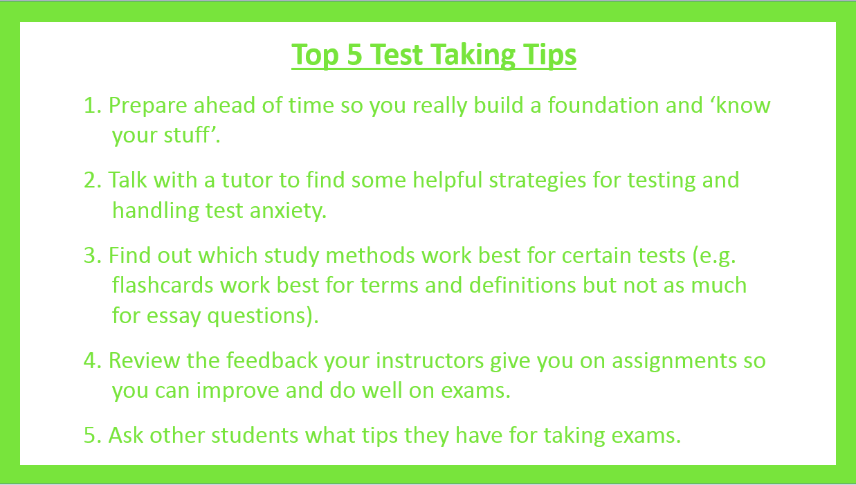 test taking tips student success guide guides at rasmussen college for more tutoring resources the box to the left