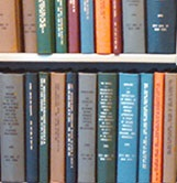 Print dissertations on the library shelves