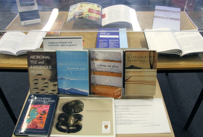 Māori language week display at Law Library