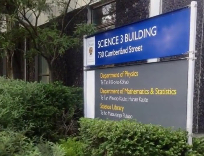 Science 3 building sign