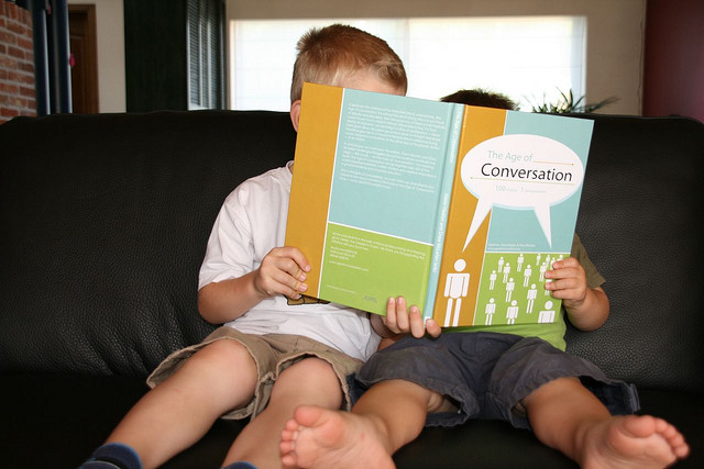 Image showing Kids of conversation