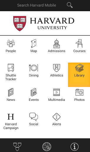 Harvard Mobile Library Feature
