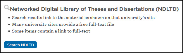 networked digital theses and dissertations Summary the networked digital library of theses and dissertations (ndltd) is an international organization dedicated to promoting the adoption, creation, use, dissemination, and preservation of electronic theses and dissertations (etds.