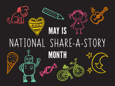 National Share A Story Month Sign