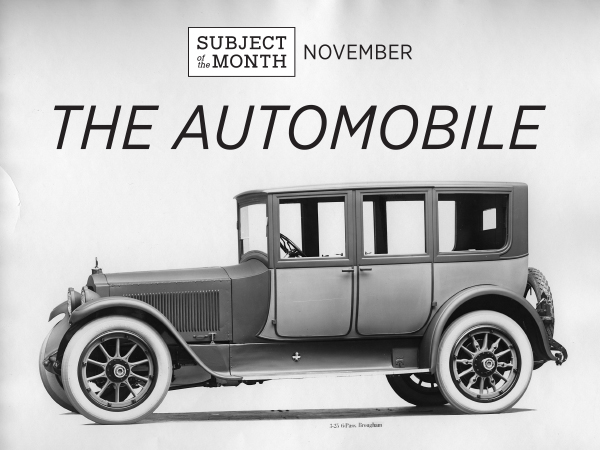 Vintage automobile for Nov 2015 Subject of the Month