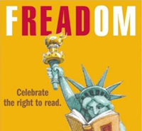 Freedom to Read Statue of Liberty Poster
