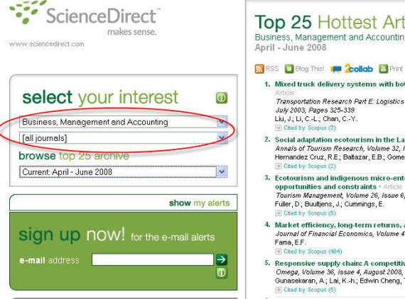 Where to find articles for research