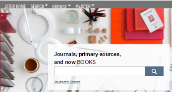 Jstor's home page