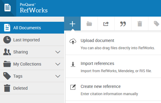 Import References to RefWorks 3