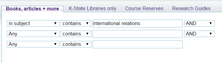 Search It advanced search for international relations as a subject