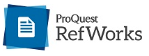 New RefWorks logo with blue square and white piece of paper