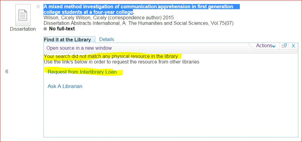 image of Interlibrary Loan link