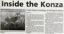 Inside the Konza newspaper clipping