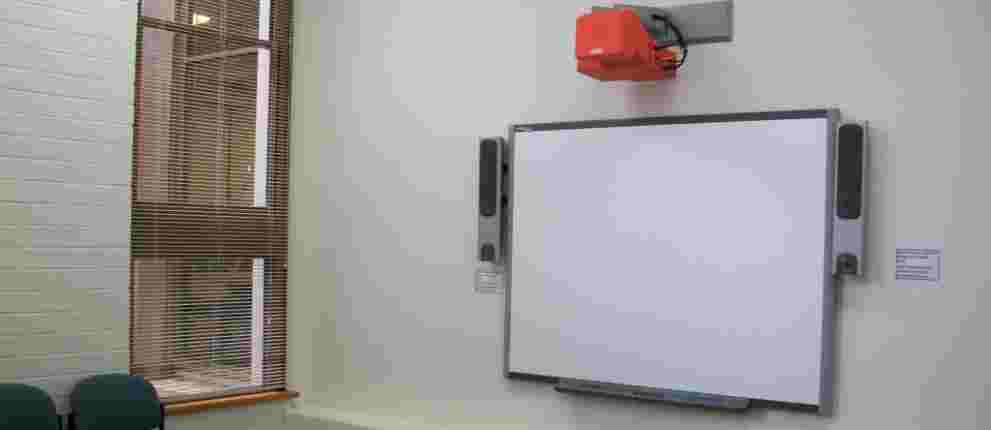 Interactive whiteboard at Magill Library [Image Source UniSA Library]