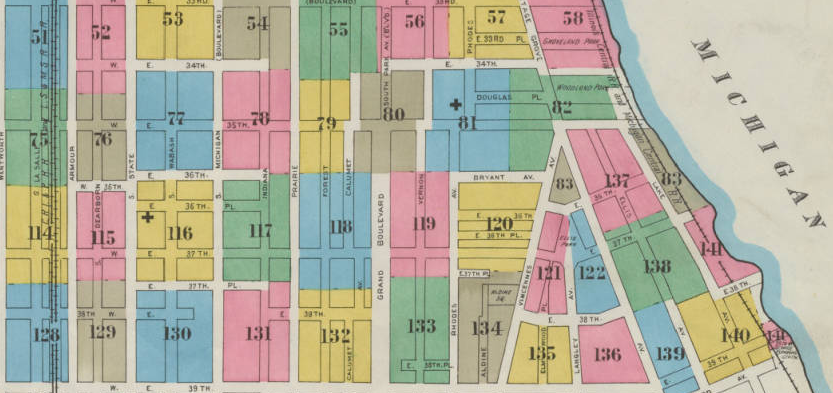 Detail of Chicago Sanborn Map index