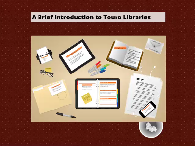 What Can Touro Libraries Do For You?