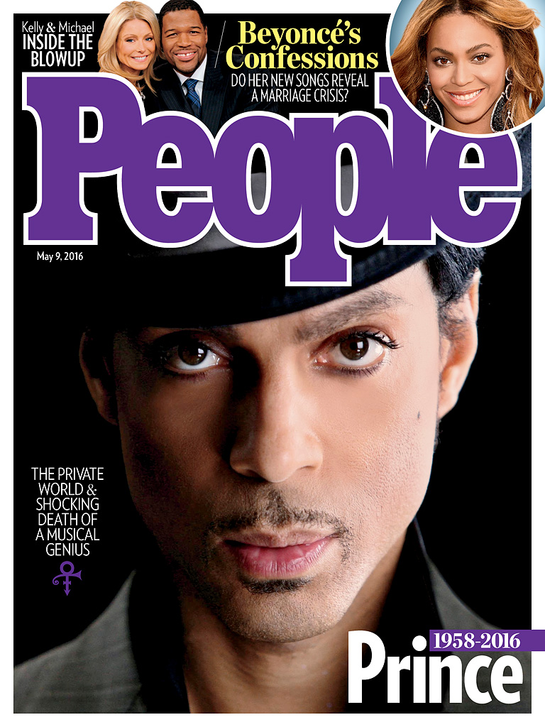 image of people magazine cover of Prince