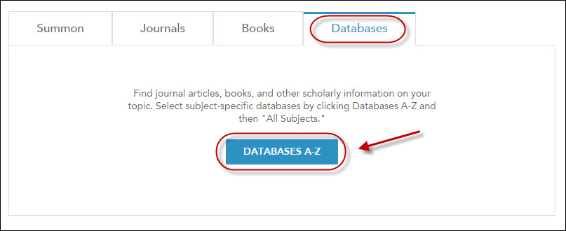 Databases A-Z link