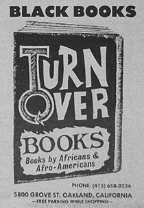 Turn Over Books ad from Black Panther Newspaper, January 1978