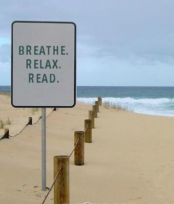 breathe. relax. read.