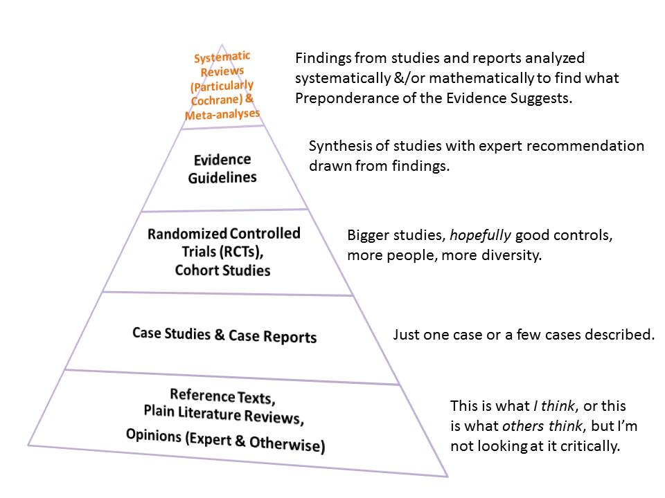 Evidence-based Practice Pyramid of Information Types