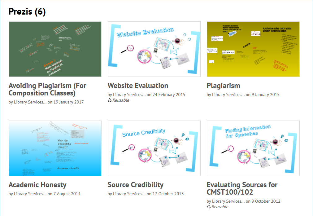 Screenshot of Prezi site